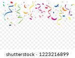 many falling colorful tiny... | Shutterstock .eps vector #1223216899