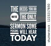 inspirational quotes the deeds... | Shutterstock . vector #1223217850