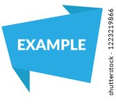 example sign label. features... | Shutterstock .eps vector #1223219866