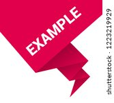 example sign label. features... | Shutterstock .eps vector #1223219929
