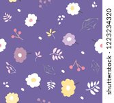 seamless pattern of hand drawn... | Shutterstock .eps vector #1223234320