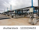 oil and gas terminal pipeline... | Shutterstock . vector #1223234653