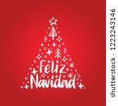 feliz navidad  handwritten... | Shutterstock .eps vector #1223243146