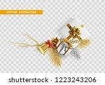 christmas vector decoration...   Shutterstock .eps vector #1223243206