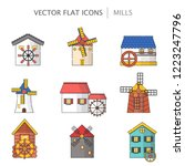 vector illustration with set of ... | Shutterstock .eps vector #1223247796