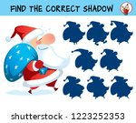 santa claus. find the correct... | Shutterstock .eps vector #1223252353