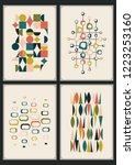 mid century moder decorative... | Shutterstock .eps vector #1223253160