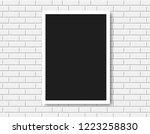 gallery interior with empty... | Shutterstock .eps vector #1223258830
