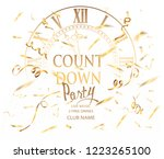 count down party banner with... | Shutterstock .eps vector #1223265100