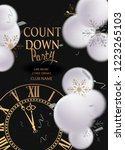 count down party banner with... | Shutterstock .eps vector #1223265103