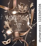 masquerade party background... | Shutterstock .eps vector #1223265106