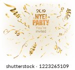 new year party  2019 invitation ... | Shutterstock .eps vector #1223265109