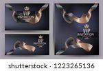 vip elegant banners with two... | Shutterstock .eps vector #1223265136