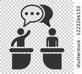 politic debate icon in flat... | Shutterstock .eps vector #1223266153