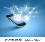 modern communication technology ... | Shutterstock . vector #122327020