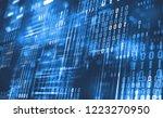 abstract binary code. cloud... | Shutterstock . vector #1223270950