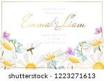 wedding marriage event... | Shutterstock .eps vector #1223271613