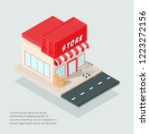 isometric store building vector ... | Shutterstock .eps vector #1223272156