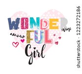 typography slogan with glitter. ... | Shutterstock .eps vector #1223272186