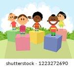 vector illustration of children ... | Shutterstock .eps vector #1223272690
