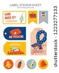 cute nordic gift labels ...   Shutterstock .eps vector #1223277133
