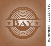 bay badge with wood background | Shutterstock .eps vector #1223277550