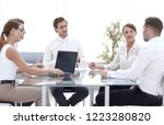 business team discussing new... | Shutterstock . vector #1223280820