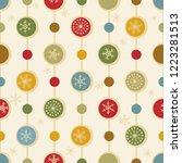 christmas seamless pattern for... | Shutterstock .eps vector #1223281513