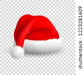 santa claus hat isolated on... | Shutterstock .eps vector #1223281609