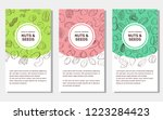 card templates with cartoon... | Shutterstock .eps vector #1223284423