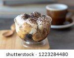 banoffee bananas  caramel ... | Shutterstock . vector #1223284480