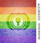 light bulb icon inside lgbt... | Shutterstock .eps vector #1223287279