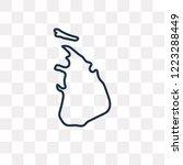 sri lanka map vector outline...   Shutterstock .eps vector #1223288449
