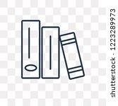 book vector outline icon... | Shutterstock .eps vector #1223289973