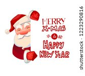 santa claus character holding... | Shutterstock .eps vector #1223290816