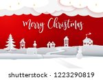 paper cut and craft winter... | Shutterstock .eps vector #1223290819