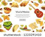 vector cartoon mexican food...   Shutterstock .eps vector #1223291410