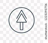 upload vector outline icon... | Shutterstock .eps vector #1223293756