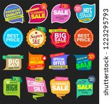modern sale stickers and tags... | Shutterstock .eps vector #1223295793