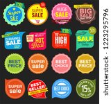 modern sale stickers and tags... | Shutterstock .eps vector #1223295796