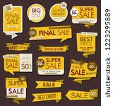 modern sale stickers and tags... | Shutterstock .eps vector #1223295889