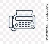 fax vector outline icon... | Shutterstock .eps vector #1223296549