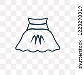 circle skirt vector outline... | Shutterstock .eps vector #1223298319