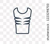 padded vest vector outline icon ... | Shutterstock .eps vector #1223298703