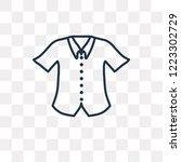 formal shirt vector outline... | Shutterstock .eps vector #1223302729