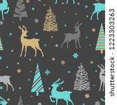 merry christmas seamless...   Shutterstock .eps vector #1223303263