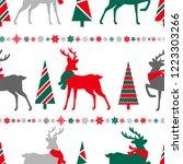 merry christmas seamless...   Shutterstock .eps vector #1223303266