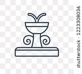 fountain vector outline icon... | Shutterstock .eps vector #1223308036