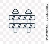 barrier vector outline icon... | Shutterstock .eps vector #1223308069