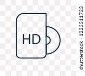 hd dvd vector outline icon... | Shutterstock .eps vector #1223311723